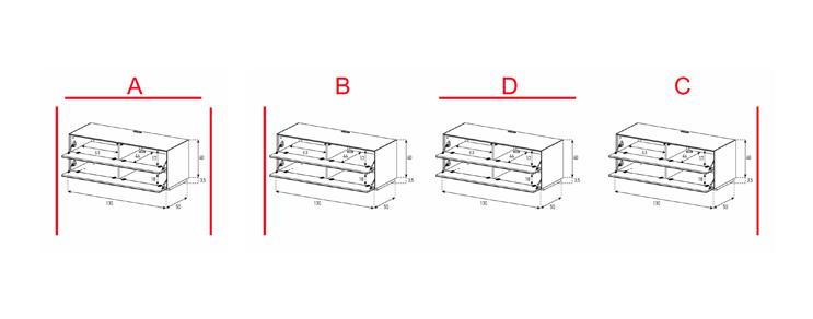 EX10-FF - Lowboard mit Klapptür / Klapptür