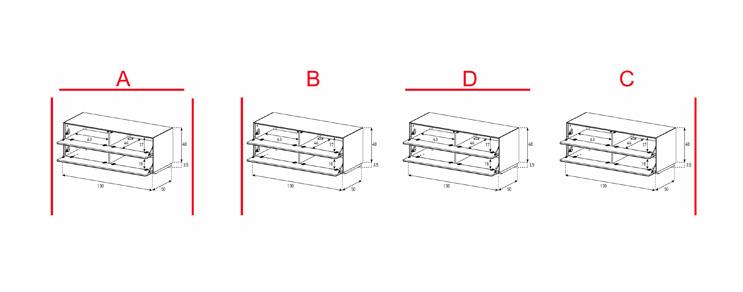 EX12-FF - Lowboard mit Klapptür / Klapptür
