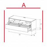 Lowboard Sonorous Elements EX10-TD-A - TV-Möbel mit stoffbezogener Klapp-Tür und Schublade / kombinierbar