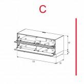 Lowboard Sonorous Elements EX10-TF-C - TV-Möbel mit stoffbezogener Klapp-Tür und Klapp-Tür / kombinierbar
