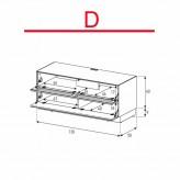 Lowboard Sonorous Elements EX10-TF-D - TV-Möbel mit stoffbezogener Klapp-Tür und Klapp-Tür / kombinierbar
