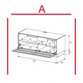 Lowboard Sonorous Elements EX10-TS-A - TV-Möbel mit stoffbezogener Klapp-Tür / kombinierbar
