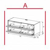 Lowboard Sonorous Elements EX10-TT-A - TV-Möbel mit 2 stoffbezogenen Klapp-Türen / kombinierbar