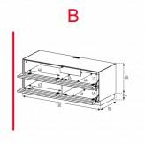 Lowboard Sonorous Elements EX10-TT-B - TV-Möbel mit 2 stoffbezogenen Klapp-Türen / kombinierbar