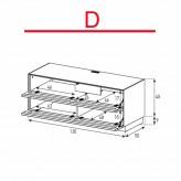 Lowboard Sonorous Elements EX10-TT-D - TV-Möbel mit 2 stoffbezogenen Klapp-Türen / kombinierbar