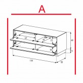 Lowboard Sonorous Elements EX12-FF-A - TV-Möbel mit 2 Klapp-Türen / kombinierbar