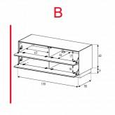 Lowboard Sonorous Elements EX12-FF-B - TV-Möbel mit 2 Klapp-Türen / kombinierbar