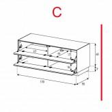 Lowboard Sonorous Elements EX12-FF-C - TV-Möbel mit 2 Klapp-Türen / kombinierbar