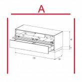 Lowboard Sonorous Elements EX12-TD-A - TV-Möbel mit stoffbezogener Klapp-Tür und Schublade / kombinierbar