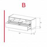 Lowboard Sonorous Elements EX12-TD-B - TV-Möbel mit stoffbezogener Klapp-Tür und Schublade / kombinierbar