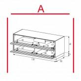 Lowboard Sonorous Elements EX12-TT-A - TV-Möbel mit 2 stoffbezogenen Klapp-Türen / kombinierbar