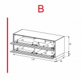Lowboard Sonorous Elements EX12-TT-B - TV-Möbel mit 2 stoffbezogenen Klapp-Türen / kombinierbar