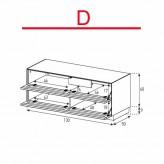 Lowboard Sonorous Elements EX12-TT-D - TV-Möbel mit 2 stoffbezogenen Klapp-Türen / kombinierbar