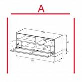 Lowboard Sonorous Elements EX50-TS-A - TV-Möbel mit stoffbezogener Klapp-Tür / kombinierbar