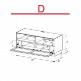 Lowboard Sonorous Elements EX50-TS-D - TV-Möbel mit stoffbezogener Klapp-Tür / kombinierbar